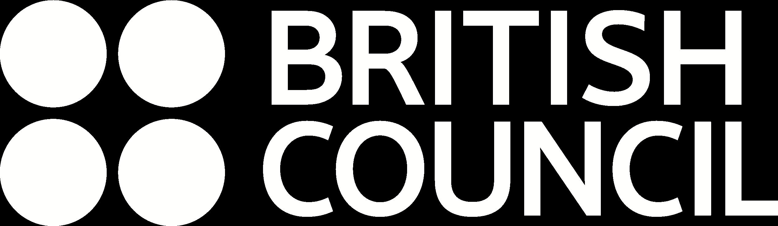 british council logo white